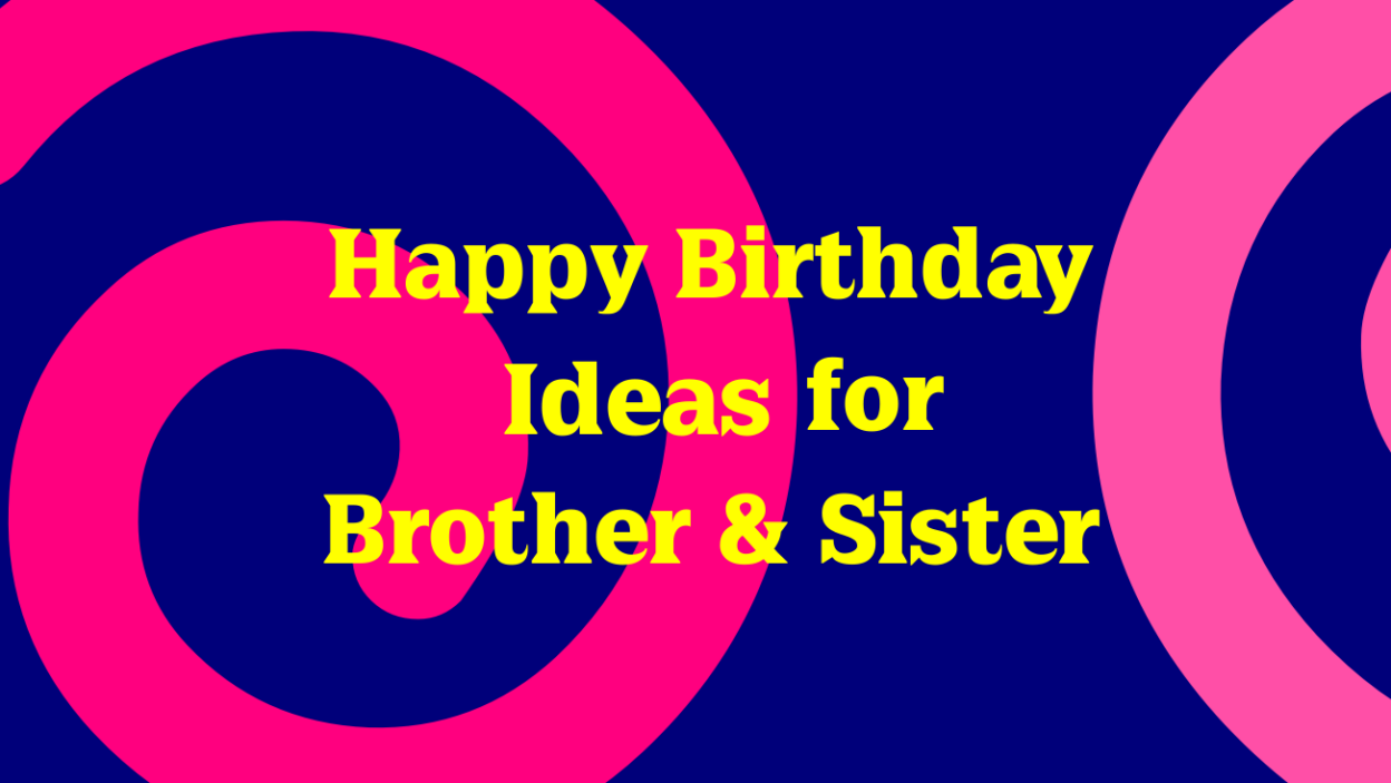 Unique Birthday Gift Ideas for Brother and Sister - Moonzori