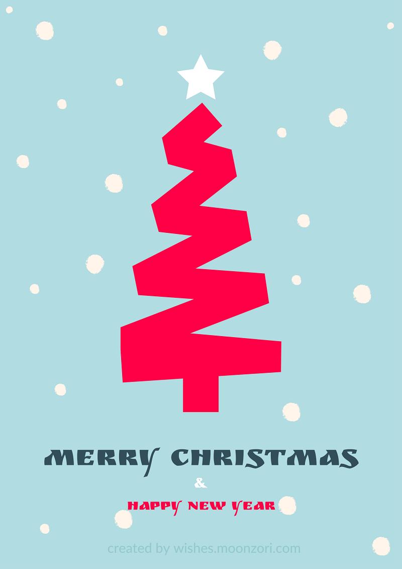 Merry Christmas and Happy New Year - Wishes Moonzori
